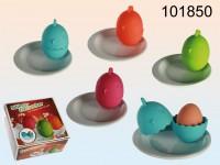Eierbecherset Silikon/Porzellan sortiert