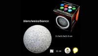 Lampe Kristallball 11cm weiss