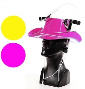 Trinkhelm Cowboyhut gelb/pink