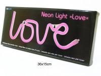 Neon Leuchte Love pink 35x15cm