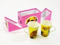 Kaffeebecher 2er Set Katzen in Box