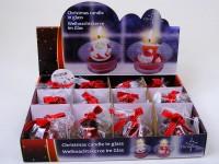 Kerze Nikolaus im Glas 2-fach sortiert