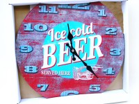 Wanduhr 34cm Glas Ice cold Beer