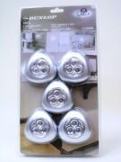 LED Drucklampen 3 LEDs 5er Set Dunlop