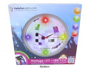 Wanduhr Discokugel 30cm 4 LEDs