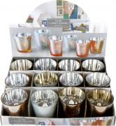 Teelichtglas Festlich 4-fach sortiert