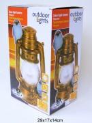 Solarlampe Laterne 12x27cm mit Vogel 23cm sortiert