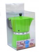 Kurzzeitwecker Espressokanne 11x6cm sortiert