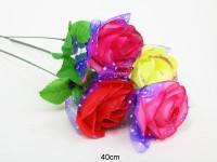 Rose glitzer 40cm 4-fach sortiert