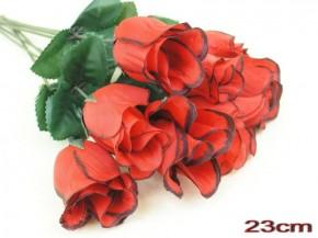 Heckenrose 23cm rot schwarzer Rand