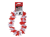 Blumenkette Hawaii rot/weiß 20cm Kopfband