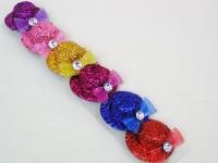 Haarspange Glitzerhut 6 Farben sortiert
