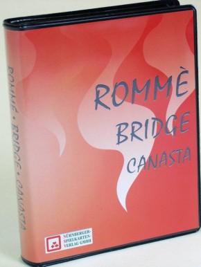 Rommee-Canasta-Bridge im Etui