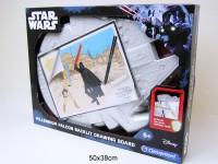 Star Wars Zeichentafel Falcon beleuchtet