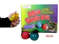Quetschball 6cm im Netz sortiert