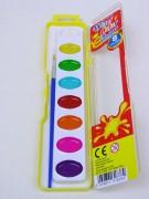 Malkasten 8 Farben mit Pinsel
