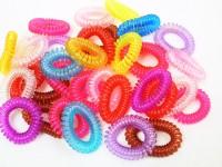 Spiralarmband/Zopfgummi farbig sortiert