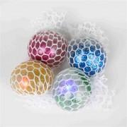 Quetschball 6cm Glitter+ LED sortiert