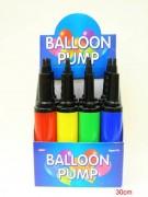 Ballonpumpe 30x5cm farbig sortiert
