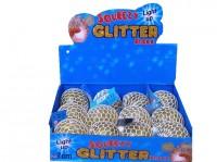 Quetschball 7cm Glitter mit LED
