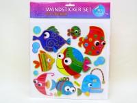 Kinder-3D-Wandsticker 17-fach sortiert
