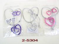 Halskette Herz m. Ohrringen