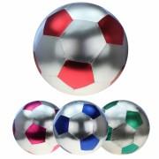 Aufblas Fußball metallic 50cm silber/bunt