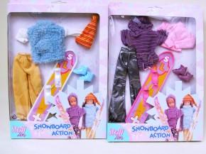 Steffi Snowboard Action Kleiderset sortiert