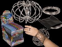 Metall Spirale Flow Ring mit Tasche