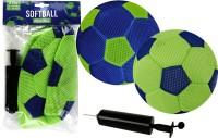 Fußball Mesh 23cm mit Pumpe 2-fach sortiert