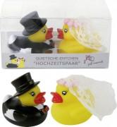 Badeente Hochzeitspaar 2er Set PVC Box