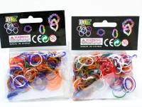 Loom Bands 100er Beutel gedeckte Farben