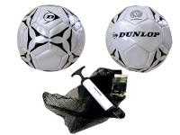 Fußball Dunlop Gr. 5 mit Pumpe im Netz