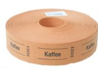 Rollen-Gutscheine Kaffee orange 1000er Rolle