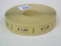 Rollen-Gutscheine 1,00 Euro 1000er Rolle