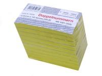 Block Doppelnummern 1001-2000 gelb