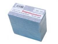 Block Doppelnummern 1001-2000 blau