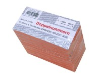 Block Doppelnummern 2001-3000 orange