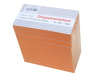 Block Doppelnummern 3001-4000 orange