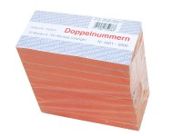 Block Doppelnummern 4001-5000 orange