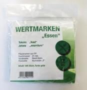 Wertmarken Chips grün Essen 100er Pack