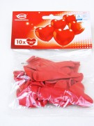 Herzluftballon 20cm rot 10er Beutel