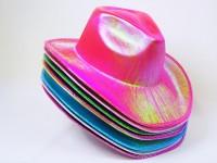 Cowboyhut Glitzerfarben 8-fach sortiert