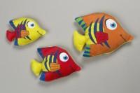 Fisch 15cm bunt mit Streifen 3-fach sortiert