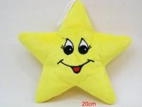 Stern gelb 20cm mit Gesicht