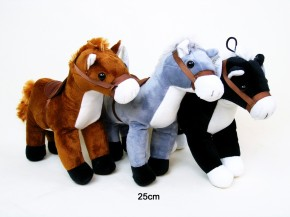 Pferd mit Sattel 25cm 3-fach sortiert