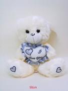 Bär mit Herz silber 50cm sitzend