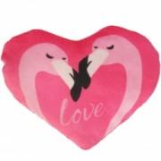 Flamingo Herz 15cm rosa
