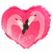 Flamingo Herz Plüschrücken 50cm rosa