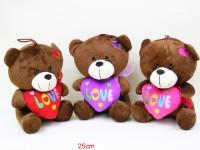 Bär mit Herz 25cm sitzend